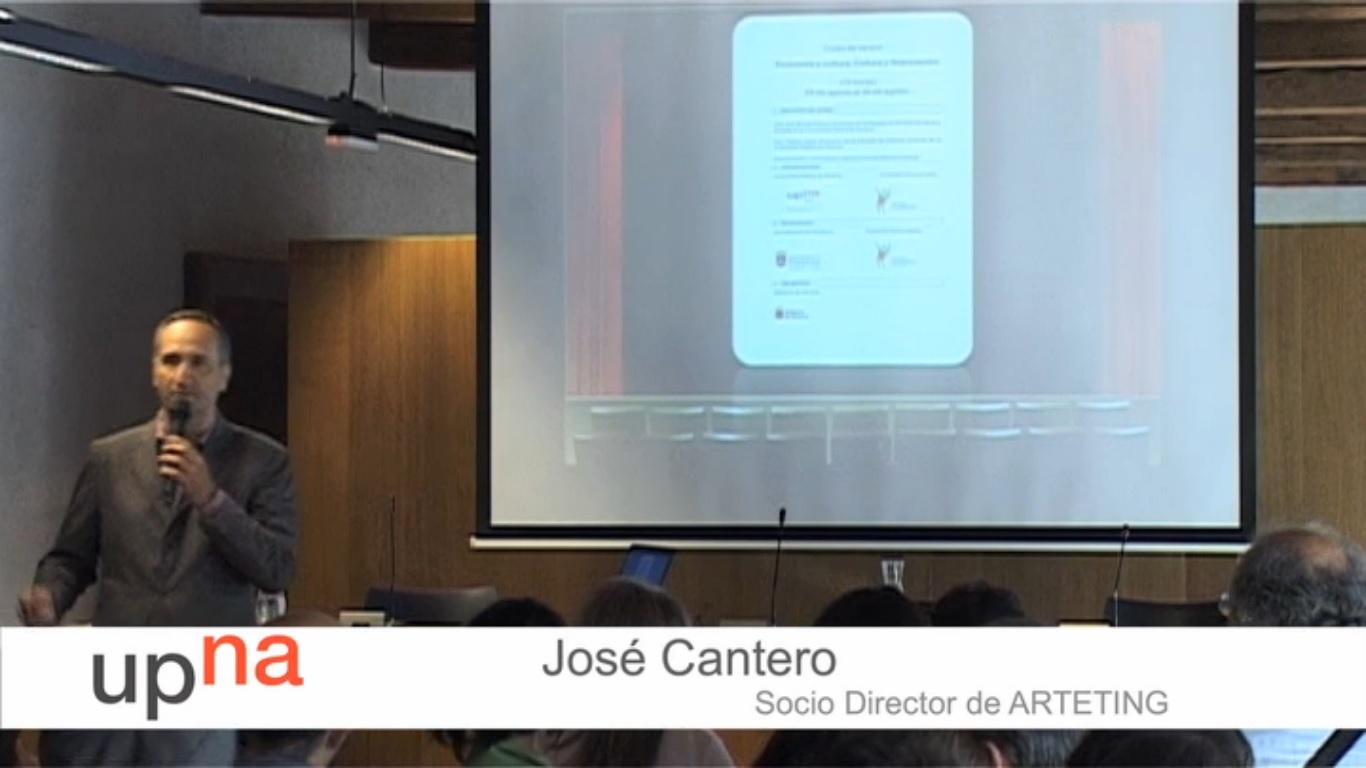 José Cantero Gómez Marketing cultural experiencial curso de verano Universidad Pública de Navarra