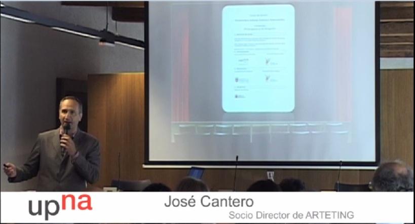 José Cantero Curso Economía y cultura organizado por la Universidad Pública de Navarra.