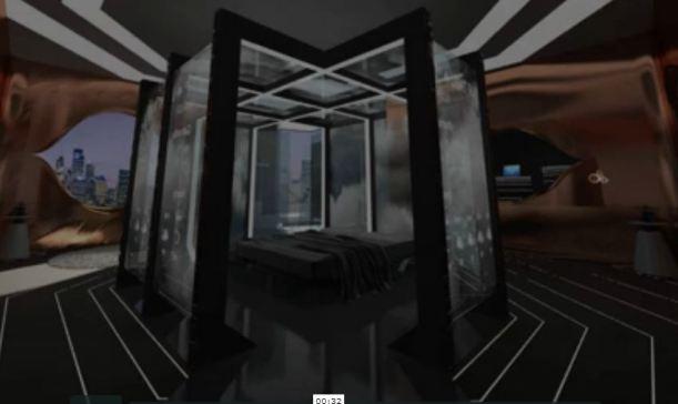 Habitación del hotel del futuro. Hotel experiencial