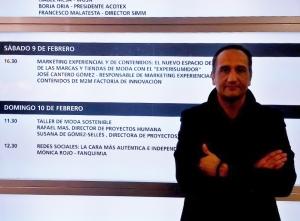 José Cantero en Foro Speaker corner en el Salón de moda de Madrid