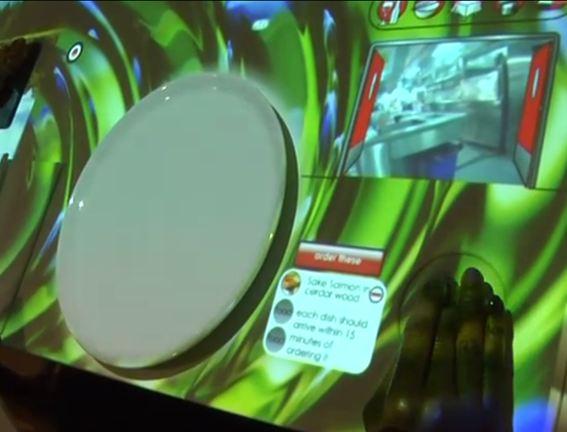 Detalle de la visión de los cocineros a través de la webcam