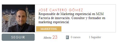 José Cantero. Profesor foramdor marketing experiencial Foxize