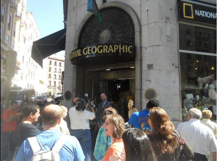 Detalle de doble del actor House en Tienda store National Geographic pra Human bodies