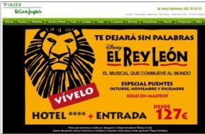 Paquete turístico Musical Rey León
