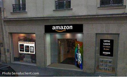Tienda física de Amanzon en París