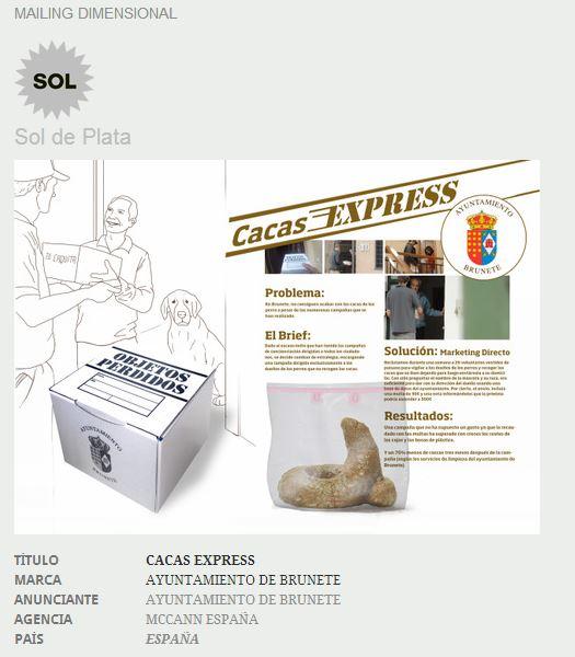 CacaExpress premiada con un Sol de Plata en el Festival Iberoamericano de comunicación publicitaria EL SOL