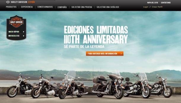 Prueba de compra en el site de Harley
