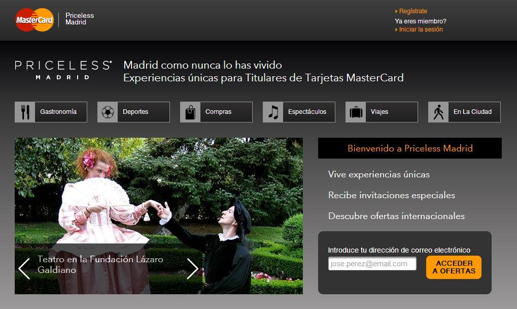 Priceless Madrid MasterCard