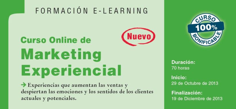 Curso on line en Marketing experiencial de la estrategia a la creatividad