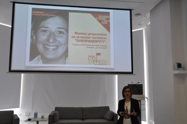 Irene Serrano en Centro de innovación del BBVA en la jornada marketing thinkers