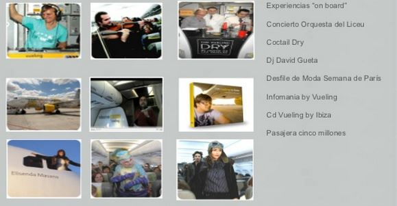 Vueling experiencias on board