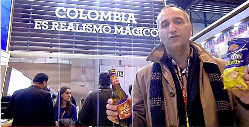 José  Cantero en stand Fitur de Colombia Realismo Mágico