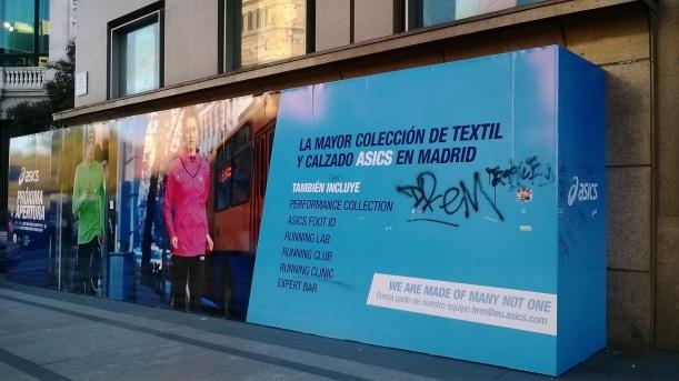 Nueva flagship store en Madrid Asics ubicada en el número 44 de la calle Alcalá