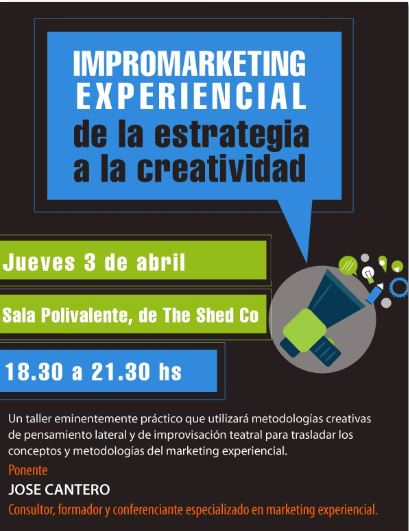 Taller marketing experiencial en The shed coworking