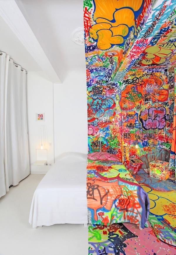 arte en la habitación