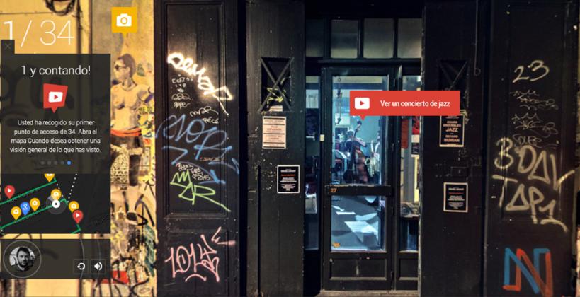 Google Nigth walk in Marsella concierto de jazz