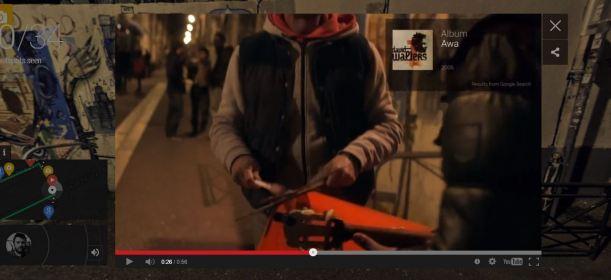 Google Nigth walk in Marsella músico callejero