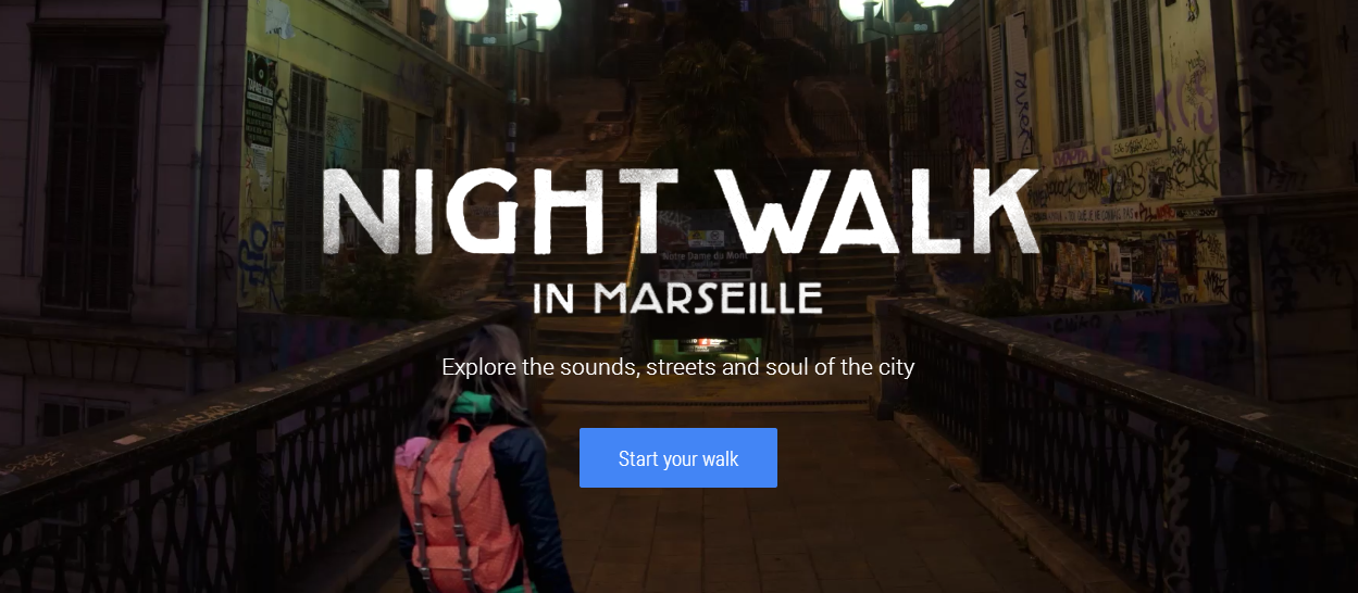 Google Night walk in Marsella