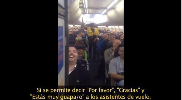 monólogo cómico en un avión