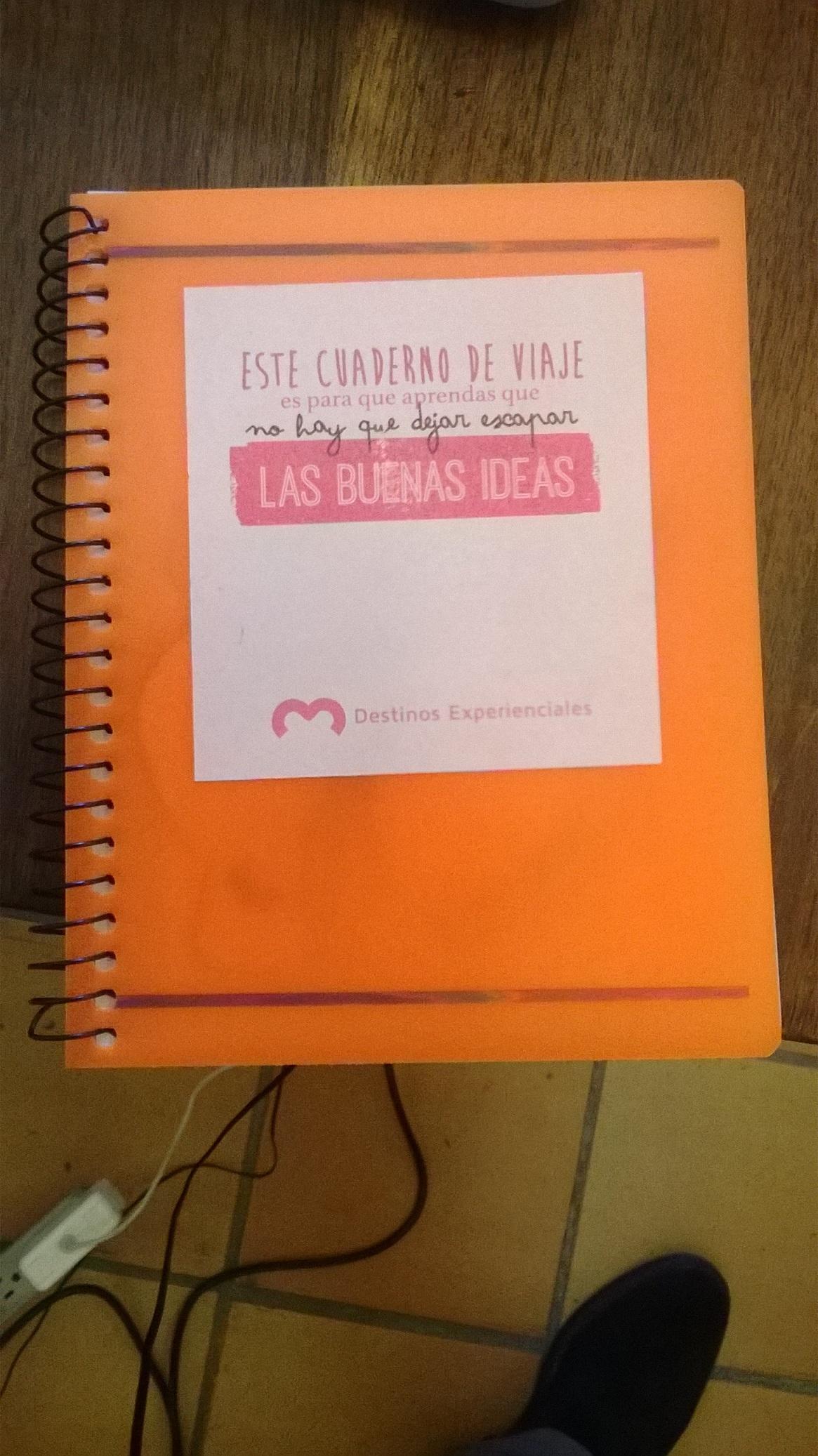 Cuaderno de viaje para formación de turismo experiencial
