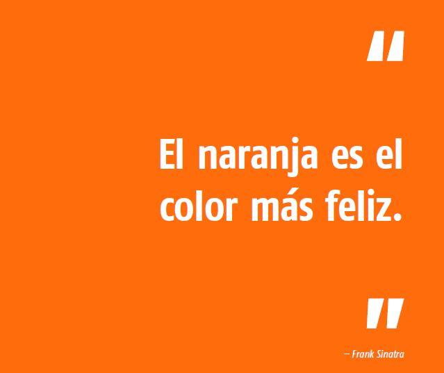 el naranja es el color más feliz