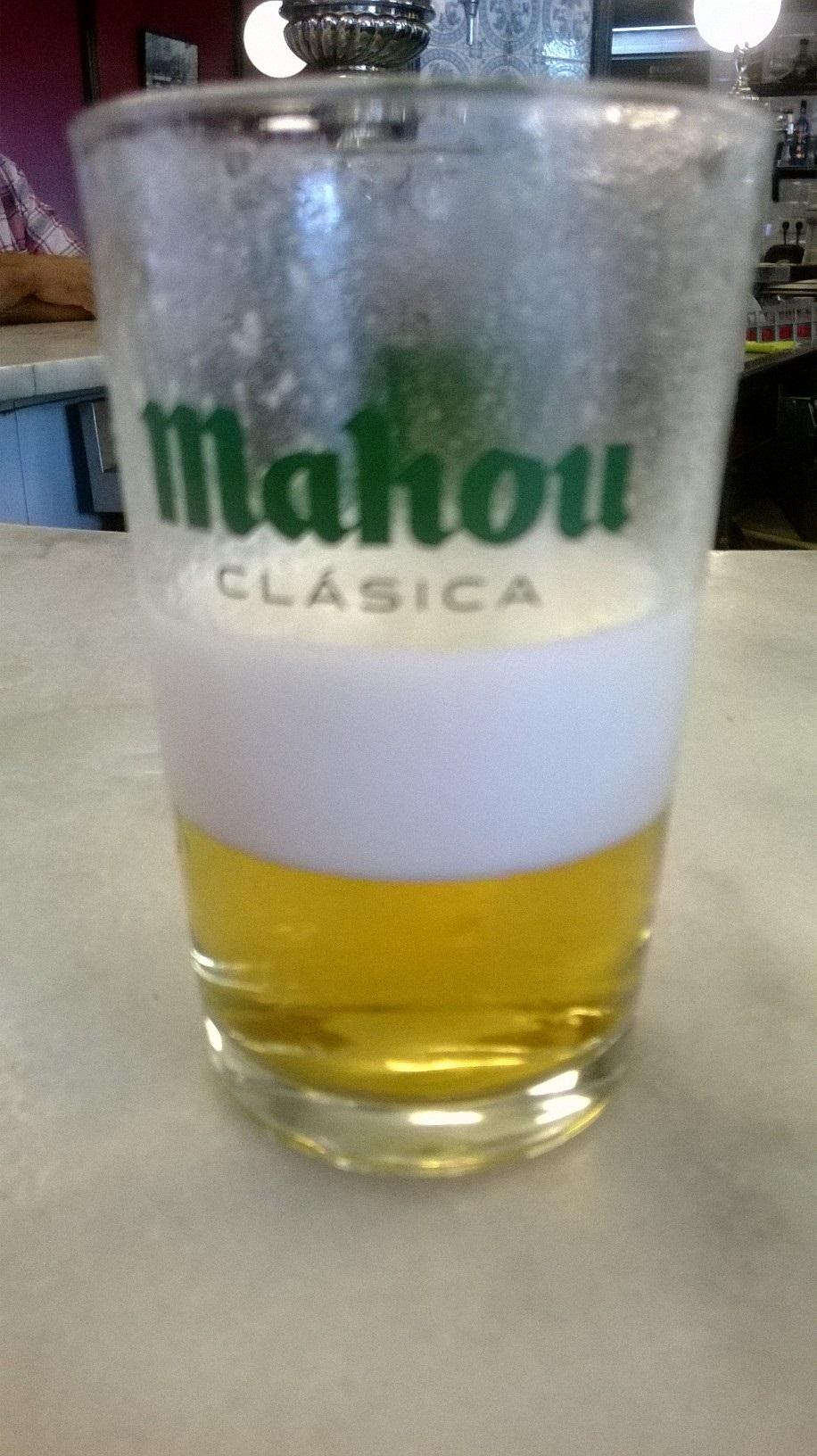 Cerveza a medias