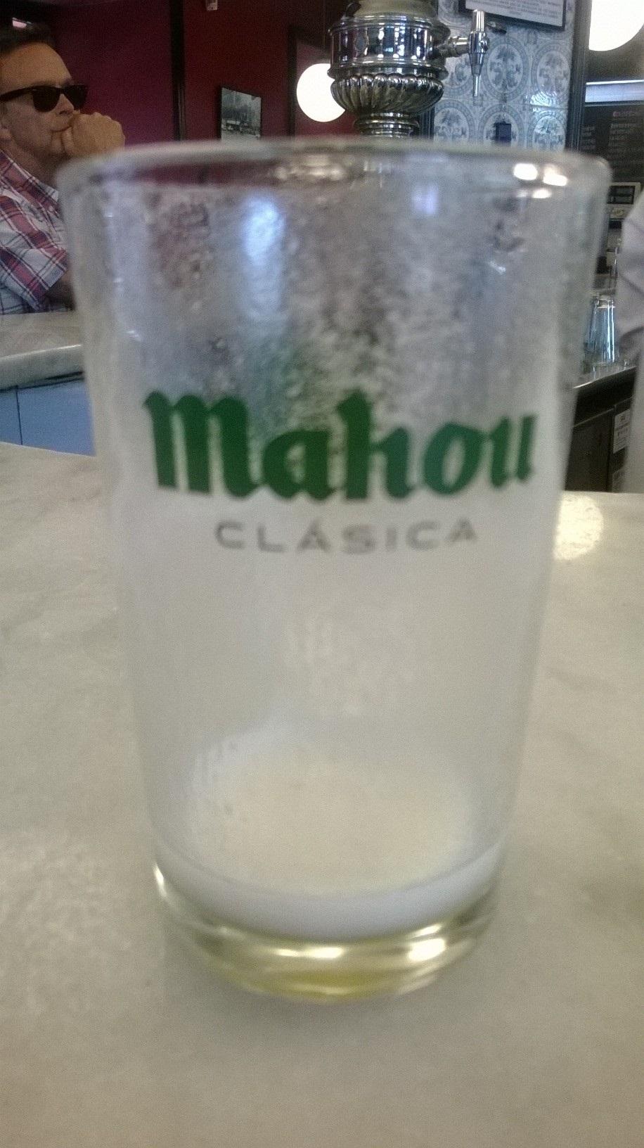 Cerveza vaso vacio