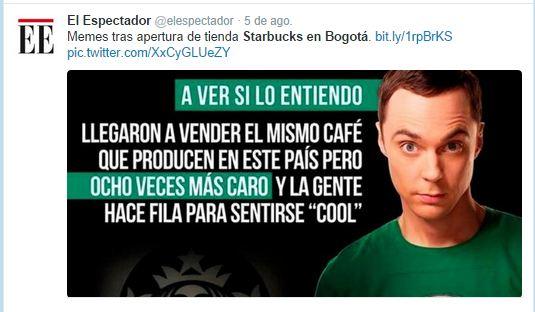 Memes starbucks Bogotá