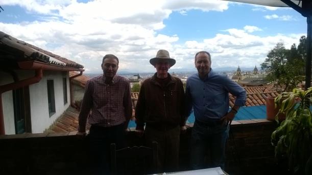 Con Richard y Carlos Sánchez