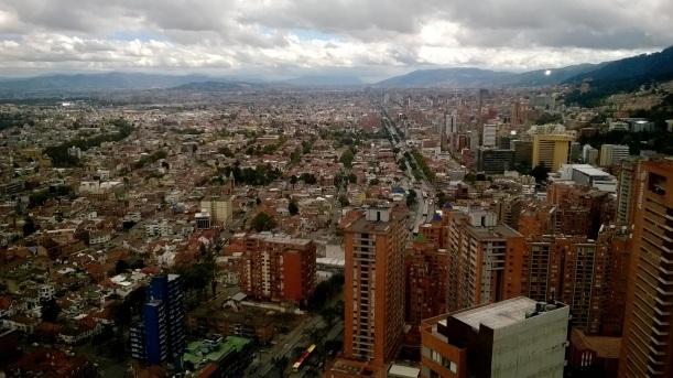 Vista panorámica de Bogotá desde las oficinas de Proexport Colombia