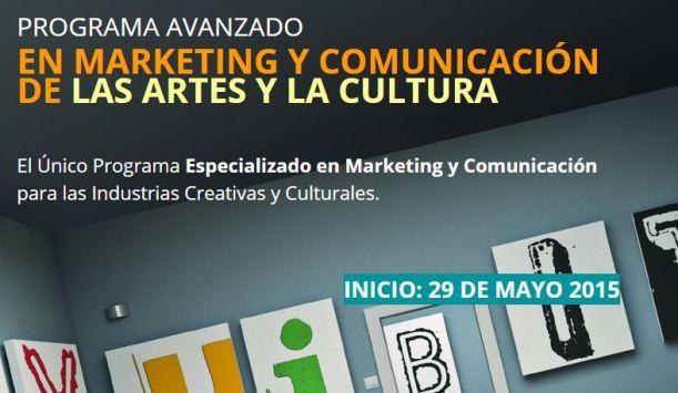 Programa de comunicación y marketing para las artes y la cultura