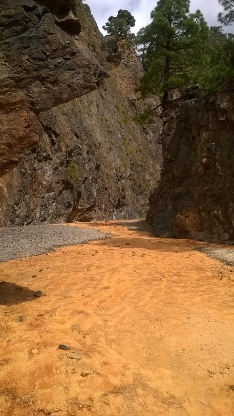Río amarillo Cascada colores