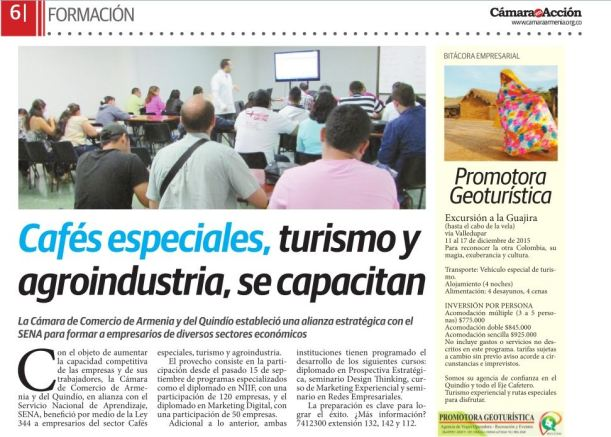 Formación en marketing y turismo experiencial