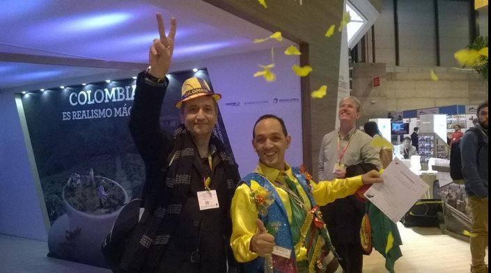 En Fitur 2015 en el stand de Colombia