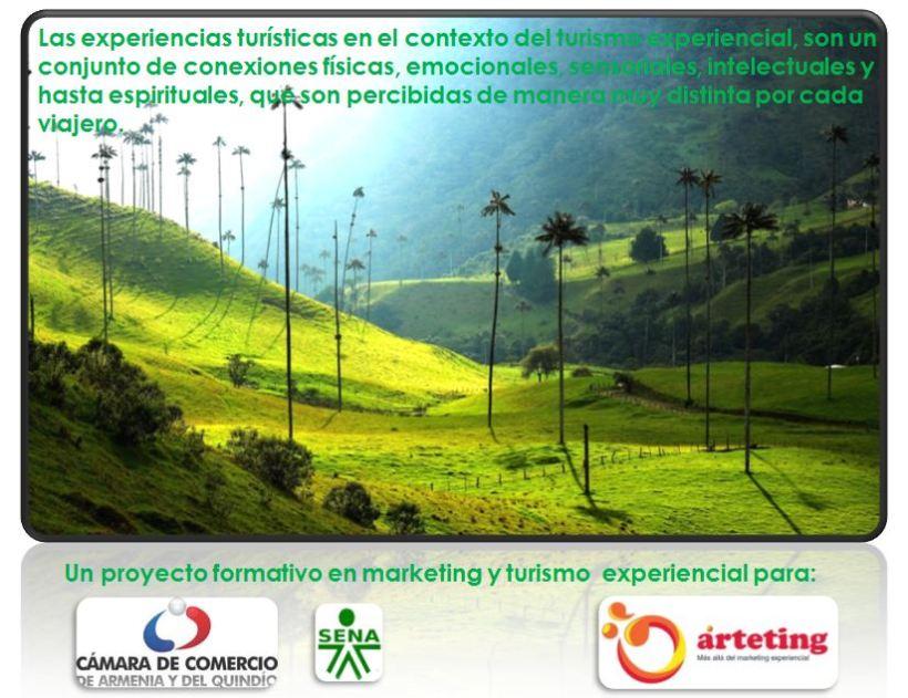 Formación José Cantero en turismo experiencial a empresarios a través de la Cámara de Comercio de Armenia y el Quindío en Colombia
