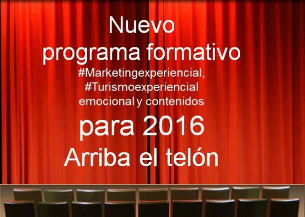 Programa formativo marketing y turismo experiencial 2016