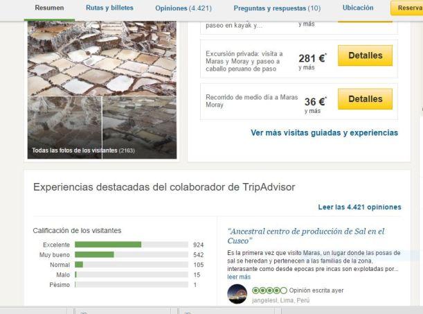 Sal de Maras Cuzco