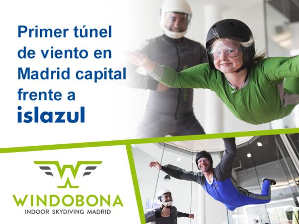 Túnel del viento en Madrid Windobona