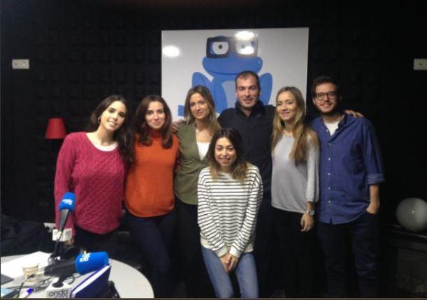 Alumnos en el Programa de Radio Onda Cro con Jaime López Amor especialista en Branded content
