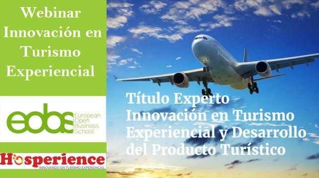 Webinar en innovación en turismo experiencial